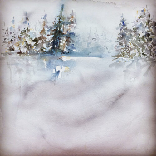 Winter light 30x30cm 3600:-
