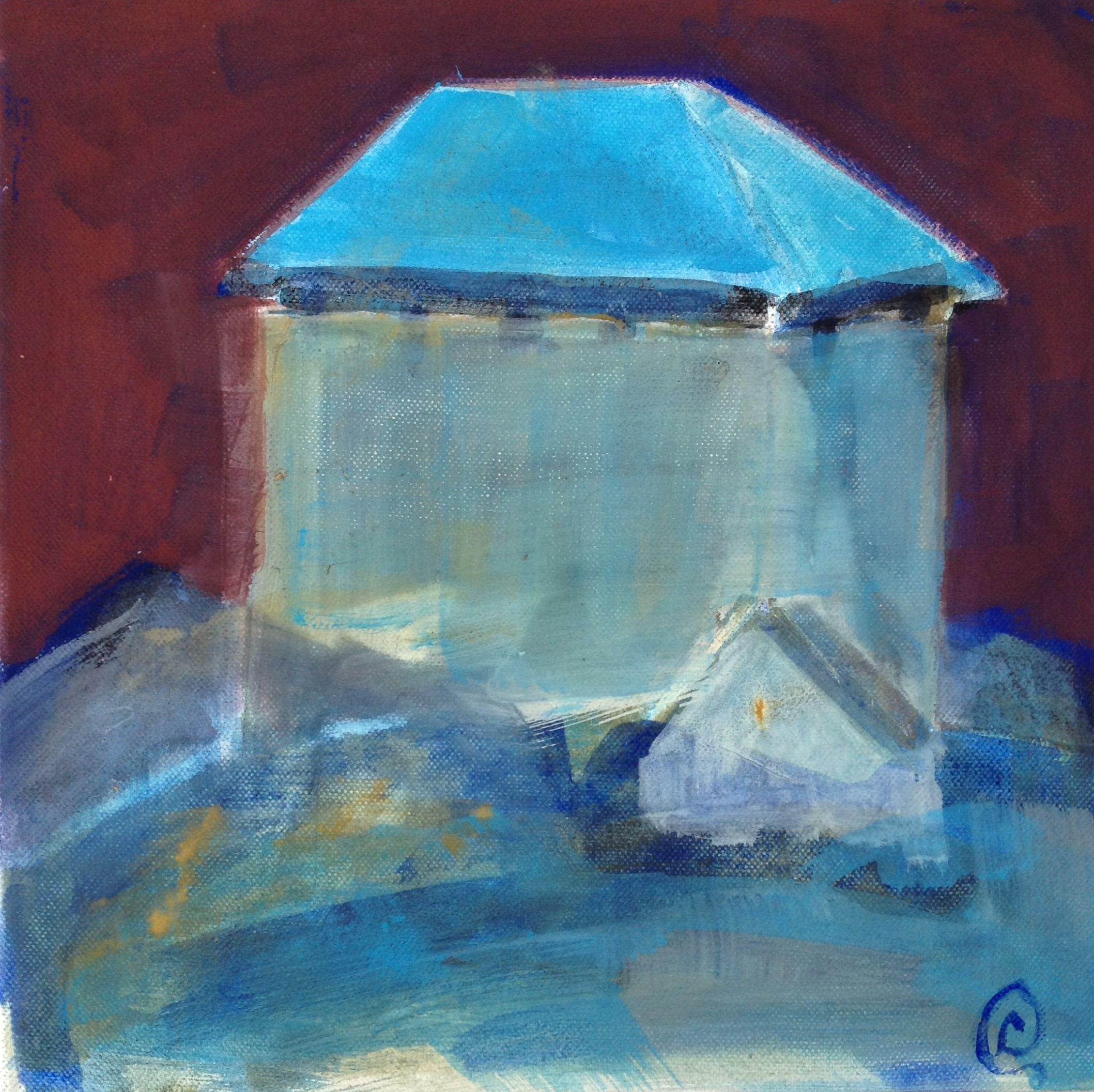 The powder-house 30x30cm 1800:-